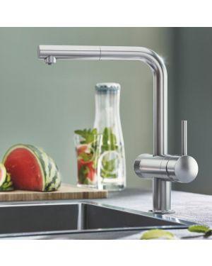 Grohe Blue Pure Minta die NEUE Küchenarmatur mit Filterfunktion und ausziehbarem Auslauf supersteel
