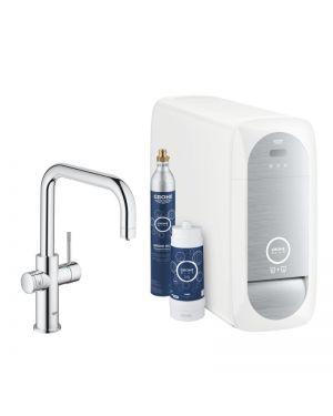 Grohe Blue Home die NEUE Küchenarmatur mit Filterfunktion, U-Auslauf chrom