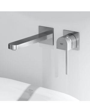Grohe Plus 2-Loch-Waschtischbatterie, für Wandmontage Ausladung-Wasserhahn